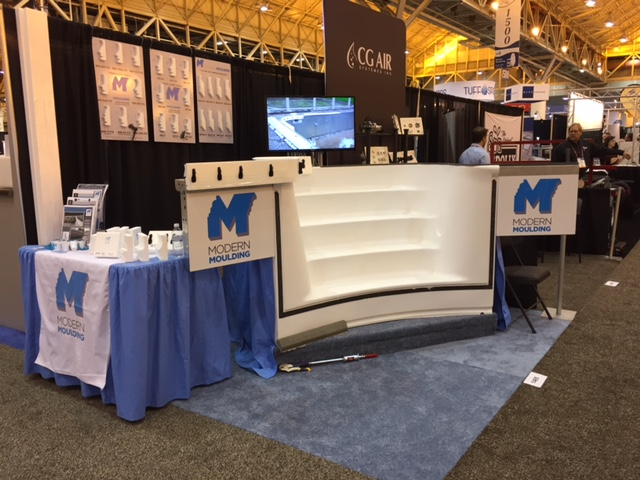 Events modern moulding for Pool spa patio show las vegas